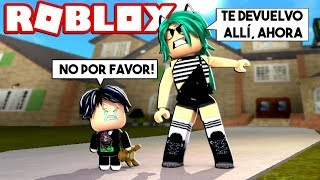 I RETURN MY BABY TO YOUR CHILD BECAUSE IT BULLYING in ROBLOX (Meep City) 😱
