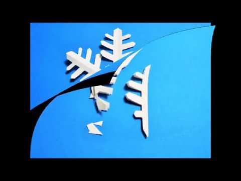ハート 折り紙:雪の結晶 折り紙 切り方-youtube.com