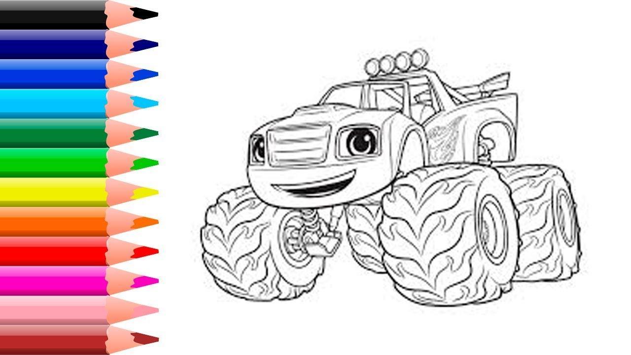 Dibujando A Blaze Y Las Maquinas Monstruo Para Niños