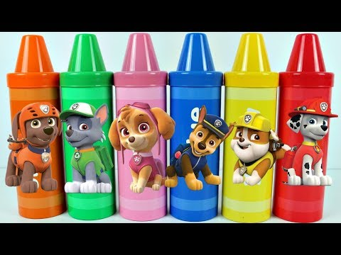 Learn Colors Crayons PATRULHA CANINA Best Learning Video For Children Toy Surprises Canal KidsToySho