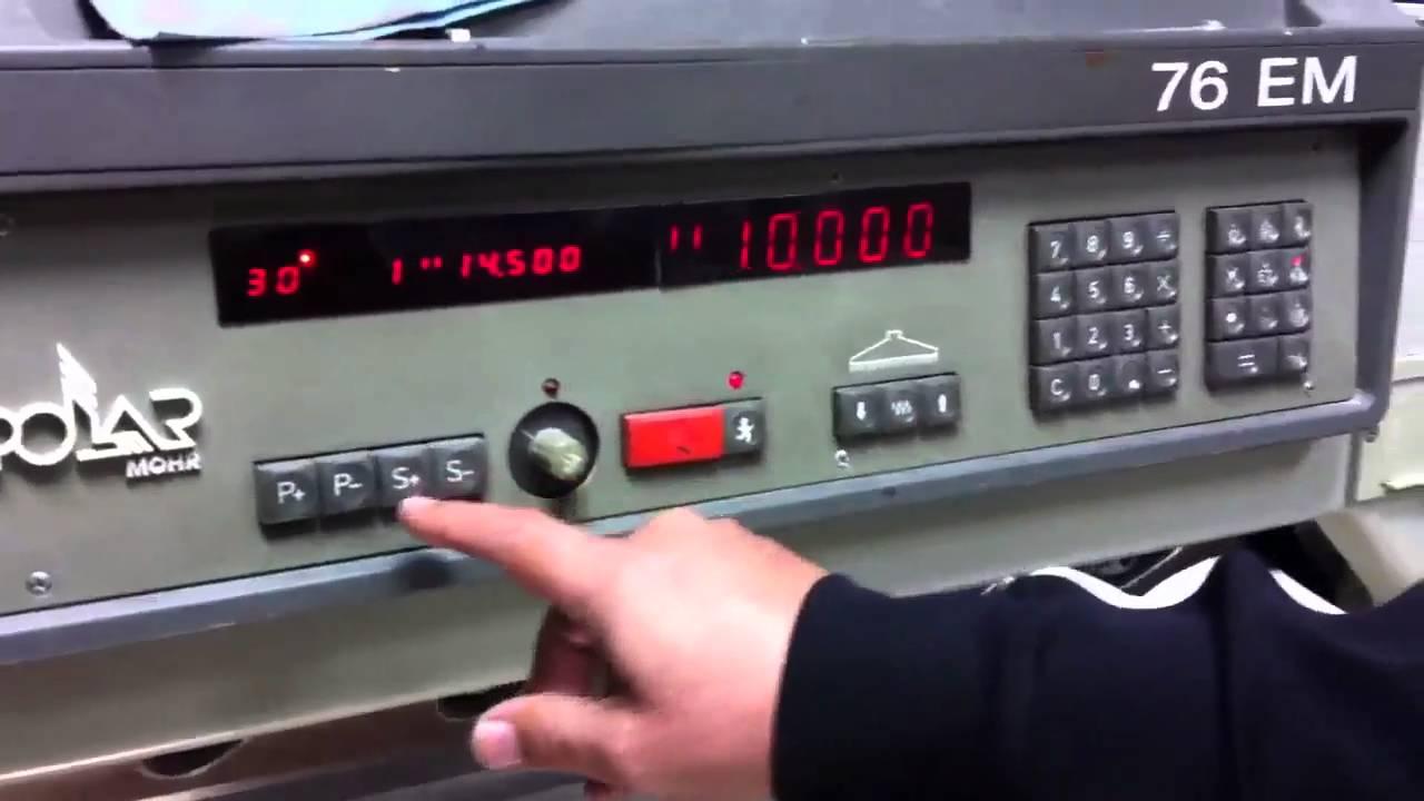 1994 polar 76 em paper cutter youtube rh youtube com Polar 115 Cutter Paper Cutting Machinery