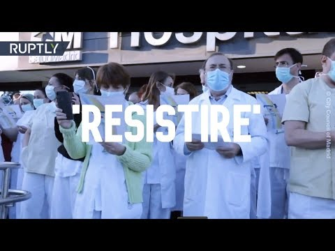 'I Will Resist' | Madrid police band play tribute to COVID-19 med staff