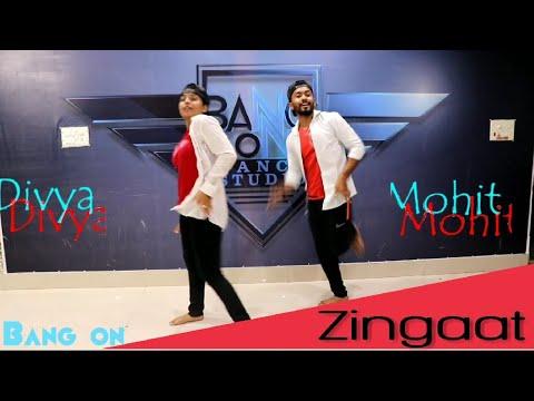 Zingaat Hindi Dance   Dhadak  Mohit Tandon Choreography  Mohit & Divya