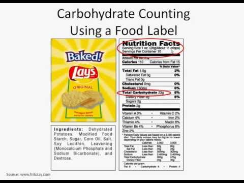 Counting Carbohydrates Using a Food Label Diabetes Center for Children at CHOP