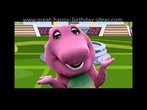 Creepy Happy Birthday Song With Barney