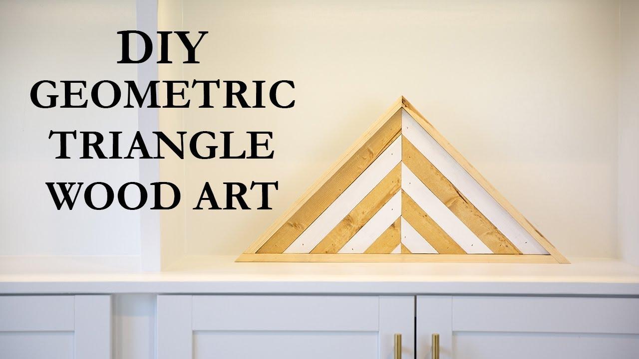 DIY Geometric Triangle Wood Art - YouTube