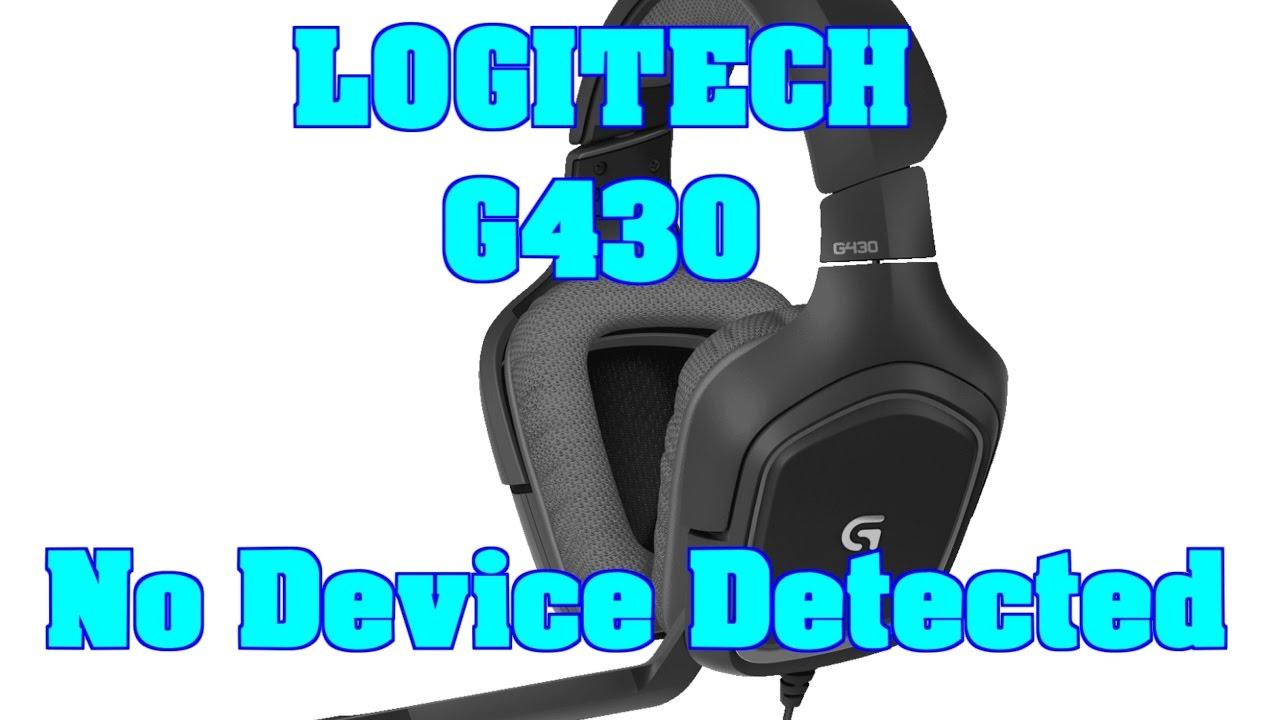 Logitech G430 No Device Detected FIX