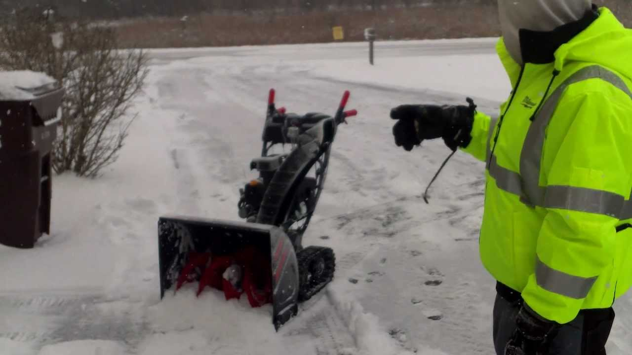 How to start a snowblower without a key