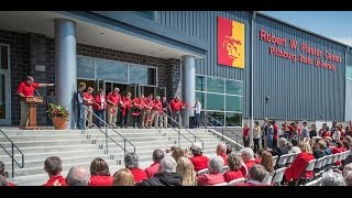 Campus, community gather to open Plaster Center
