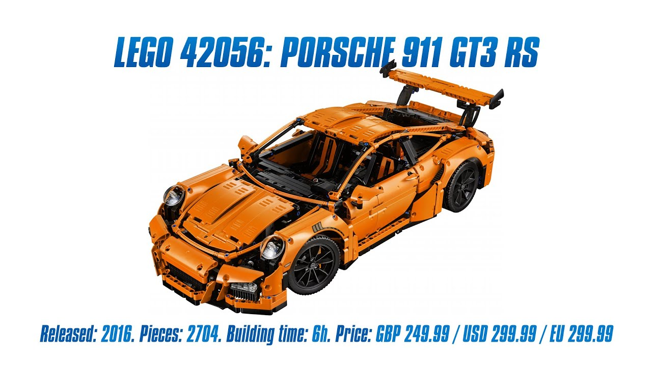 39 lego technic 42056 porsche 911 gt3 rs 39 unboxing parts list speed build review youtube. Black Bedroom Furniture Sets. Home Design Ideas