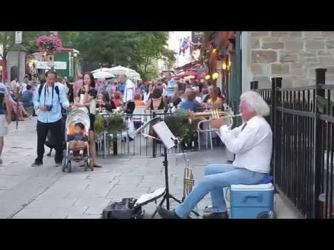 Street Trumpet Player ''Hello Dolly''.Québec City.Aug.2014