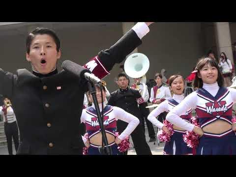早稲田大学2018年新歓ライブ4月2日14時~副将による応援メドレー