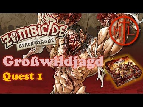 Let's Play - Zombicide Black Plague - Quest #1 Großwildjagd (Deutsch / Brettspiel / Einführung)