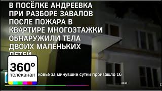 В подмосковном поселке Андреевка в пожаре погибли двое детей