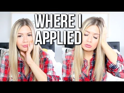 My College Application Process (Where I Applied to College)