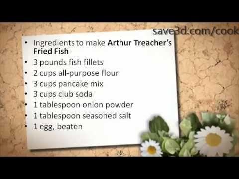 Secret Recipe - How to make Arthur Treacher's Fried Fish (Copycat Recipes)