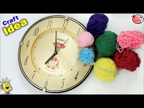 Best out of Waste || Wall Clock Decoration Idea || DIY Room Decoration Idea 2018 || Handmade Craft