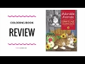Adorable Animals - Grayscale Coloring Book  Review - Jane Maday
