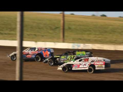 STUART SPEEDWAY 7/24/2016 A-MOD HEAT RACE (9625 & 26)