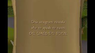 DR WARDEN FUNK OSRS anagram clue