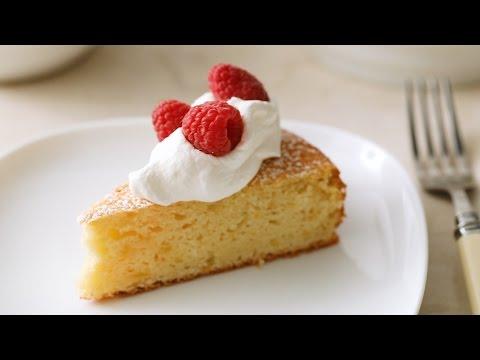 Simple Lemon Cake with Pomegranate Glaze- Martha Stewart