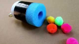 How to make a pool noodle pom pom shooter