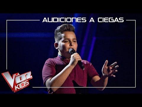 Bryan Muñoz Canta 'La Incondicional' | Audiciones A Ciegas | La Voz Kids Antena 3 2019