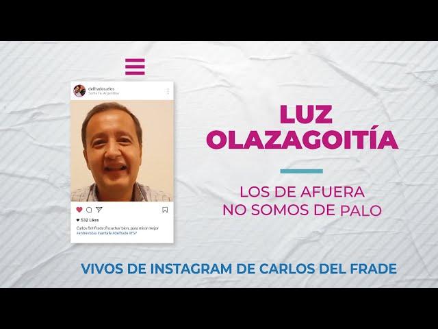 Carlos Del Frade con Luz Olazagoitia  -  Los de afuera no somos de palo