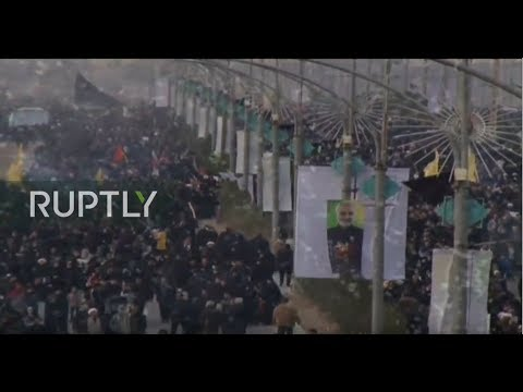 LIVE: Funeral procession for Quds Force General Soleimani in Iranian city of Qom