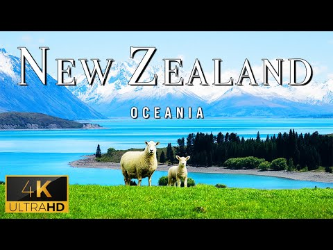 FLYING OVER NEW ZEALAND (4K UHD) - Relaxing Music With Stunning Beautiful Nature (4K Video Ultra HD)