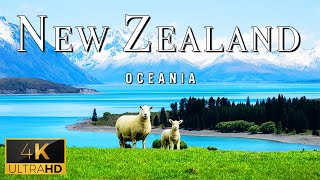 FLYING OVER NEW ZEALAND (4K UHD)  Relaxing Music With Stunning Beautiful Nature (4K Video Ultra HD)