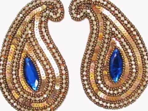 Beautiful Dress Sewons Stone Sewing Appliques Ibatrim Youtube