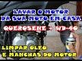 COMO LAVAR O MOTOR DA SUA MOTO USANDO WD-40 + QUEROSENE - BROS 160