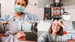 WEEK IN THE LIFE OF A NURSING STUDENT  hesi exam, my protein smoothie recipe, lots of studying, ETC