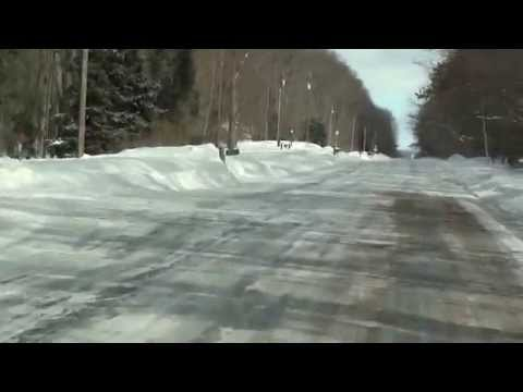michigan's upper peninsula winter roads