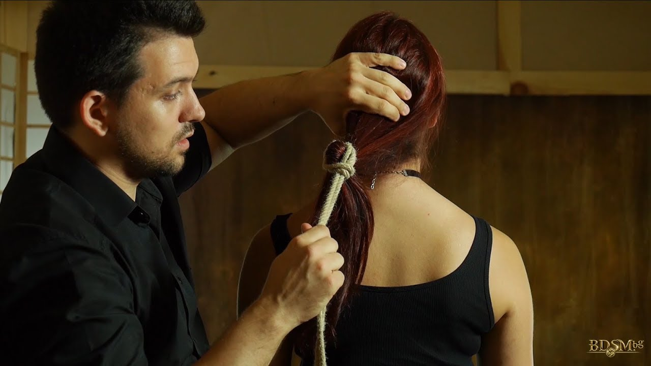 Salon Bdsm Tying Hair Hair Bondage