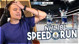 NHL 18 SPEED RUN *WORLD RECORD*