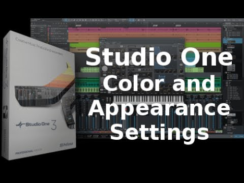 Studio One Color and Appearance Settings