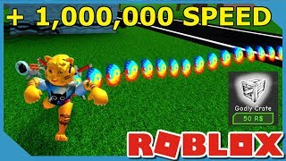 1,000,000 SPEED CRATES | Roblox Speed Simulator