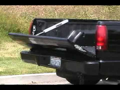 23 jsc droptail power tailgate assist for pickup truck liftgate for chevy silverado youtube. Black Bedroom Furniture Sets. Home Design Ideas
