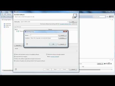 Install The ADT Plugin For Eclipse