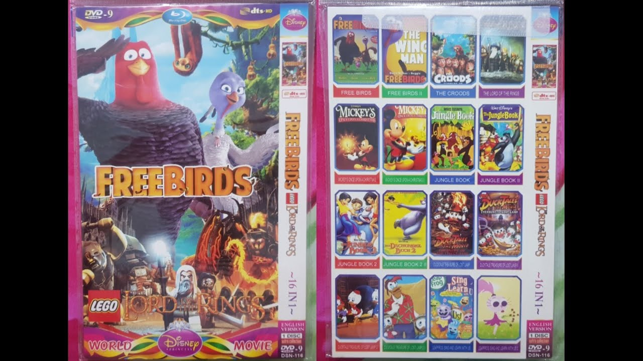 Download Free Birds Lego The Lord Of The Rings (World Disney Princess Movie) DVD Menu 2020