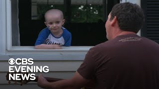 Front lawn becomes a stage for a house-ridden boy
