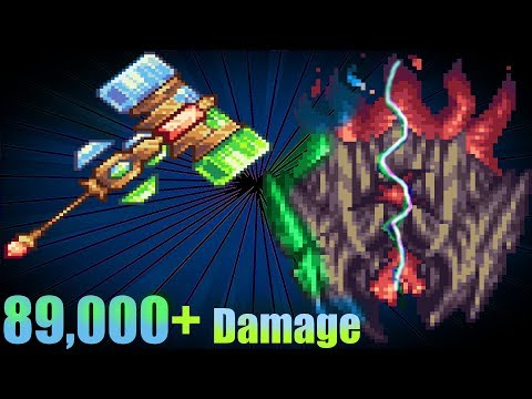 terraria crazy buffed up  Triactis' True Paladinian Mage-Hammer of Might vs supreme calamitas
