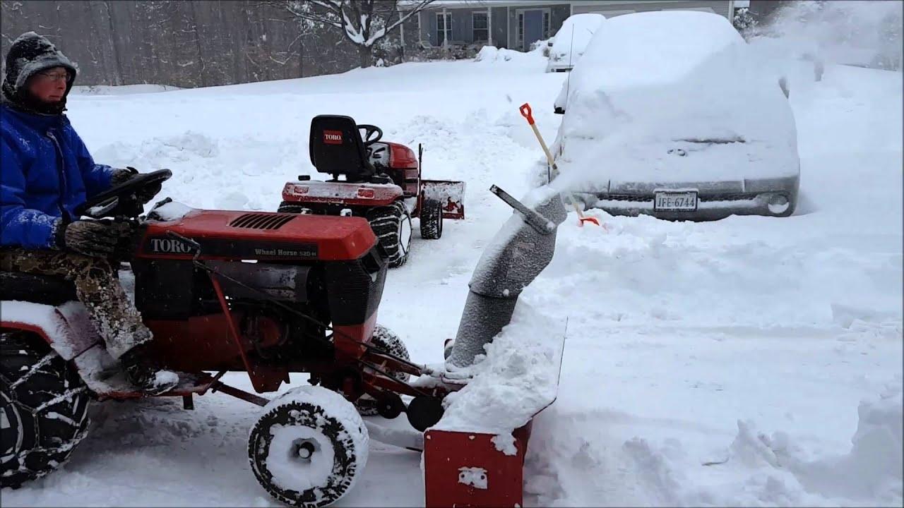 Wheel Horse Garden Tractor Snowblower Gardening Flower And Vegetables Ford Lgt 145 Wiring Diagram Single Stage Snowthrower Jan 2016 Blizzard