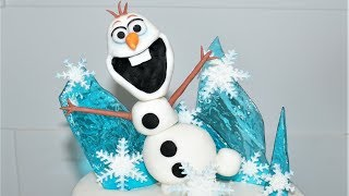 Cake decorating tutorials | how to make OLAF cake topper | Sugarella Sweets