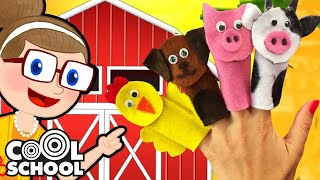 DIY Old MacDonald Finger Puppets | Crafty Carol Crafts | Cool School