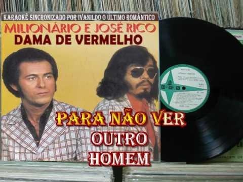 DAMA  DE VERMELHO  - MILIONÁRIO E JOSÉ RICO   - KARAOKÊ