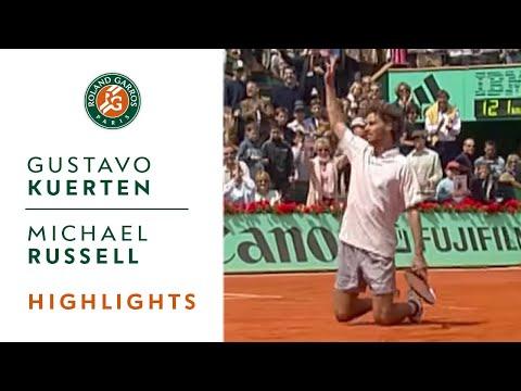 Gustavo Kuerten v Michael Russell Highlights - Men's Round 4 I Roland-Garros 2001