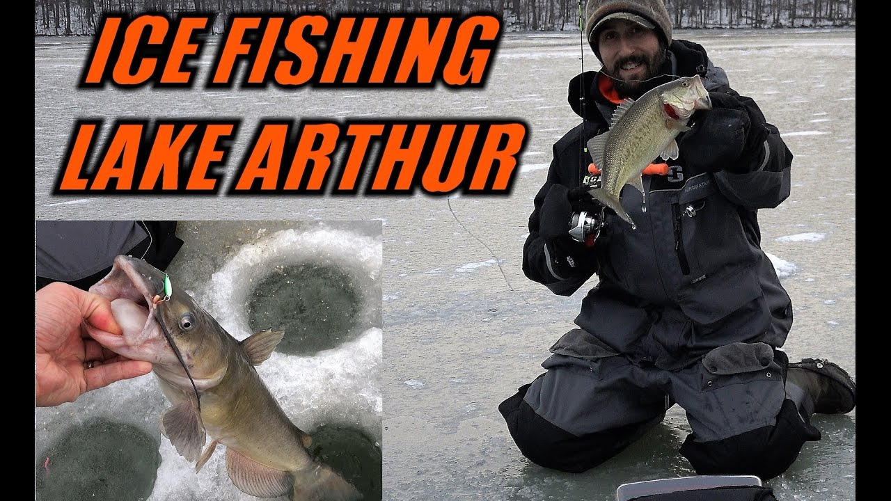 Ice fishing lake arthur early season 2016 crappie for Ice fishing for bass